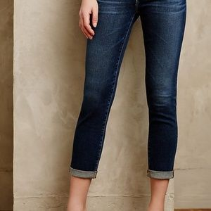 AG Jeans Stevie Roll Up Slim Straight Womens 27